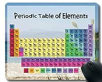 カスタマイズされた要素の色付き周期表マウスパッド、ステッチエッジのコルフ海水テーママウスマット