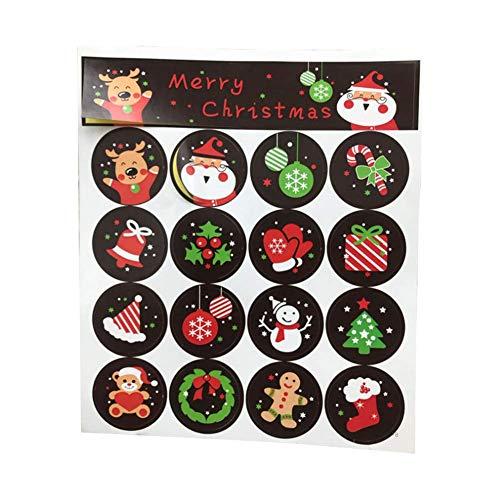 Preisvergleich Produktbild KFYOUXIN Packung mit 160 Weihnachtsbäckerei Aufkleber süße Bunte Umschlag Dichtungen Etiketten für Karten Festliche Handwerk und Dekoration 3CM (braun)