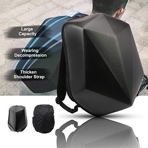 JFG RACING - Mochila de motocicleta con forma de diamante, fibra de carbono, resistente al agua, de gran capacidad, 30 l, mochila de equitación para viajes al aire libre, camping, ciclismo