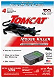 Tomcat Mouse Killer Disposable Station for Indoor Use - Child Resistant (4 Stations with 1 Bait Each)