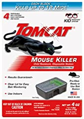 Kid resistant disposable station Effectively kills mice and provides great combination of value and security Each bait block kills up to 12 mice* and includes a clear lid for easy bait monitoring *Based on no-choice laboratory testing. Resistant to t...