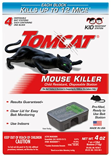 Tomcat Mouse Killer Disposable Station for Indoor Use