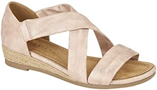 Cipriata Womens/Ladies Oliva Heel in Stretchy Crossover Bar Sandals