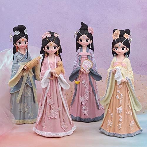 Gyjcd Retro Stijl Pop Decoratie Cadeau Ornamenten Ambachten Linglongfang Verjaardagscadeau Woondecoratie Set Van Vier