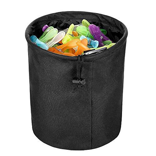 Yxaomite Wäscheklammerbeutel wetterfeste Kleidung Korb für Wäscheklammern Ideal für Bad Balkon Oder Hauswirtschaftsraum