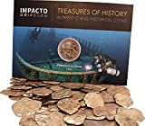 "IMPACTO COLECCIONABLES Monedas de España - Monedas Antiguas - Colección Monedas - Naufragio del Galeón ""Princess Louisa"" Real Español de Plata 1743"
