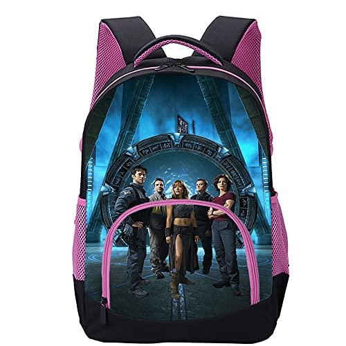 KKASD Stargate Atlantis Mochila impresa en 3D Niños adultos estudiantes de primaria y secundaria mochilas casuales 45x30x15cm mochila de viaje