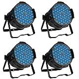Betopper Luces LED para escenario DJ Par 54 x 3 W RGB luz de lavado DMX iluminación para bodas, iglesia, fiesta, música en vivo, club, etc. (4 paquetes)