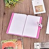 LZKW Álbum de Fotos portátil de 3 Pulgadas, Ligero y Suave, de 16 páginas Individuales, con 96 Piezas de Fotos en Total, Libro de Fotos de Moda, para álbum de Compromiso para(Pink)