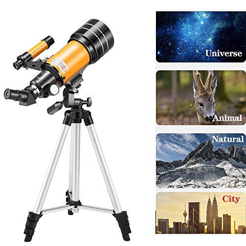 Professionelles Sternbeobachtendes Astronomisches Teleskop, 70-Mm-Blende, Smartphonesuche Nach Sternen, Geeignet FüR Tragbare Reisespiegel FüR Erwachsene Und Kinder