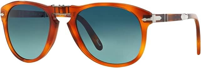Persol Steve McQueen Limited Edition Sunglasses 0714SM Light Havana / Blue 54mm