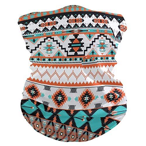 TropicalLife XIXIKO - Bandana geométrica tribal, étnica azteca, protección contra polvo, UV, multifuncional, para cuello, bufanda, para mujeres, hombres, deportes al aire libre, senderismo, deportes