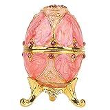 Uovo Fabergé Uovo Fabergé Vintage Dipinto a Mano Uovo Fabergé smaltato con Brillanti Diamanti per Scatola gingillo Uovo di Pasqua