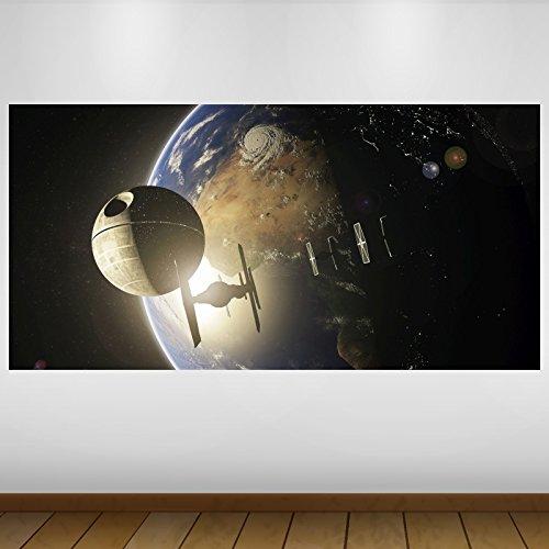 LagunaProject Extra Grande Star Wars Estrella de la Muerte de la fantasía de Vinilo Póster - Mural Decoración - Etiqueta de la Pared -140cm x 70cm