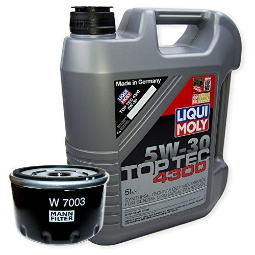 LIQUI MOLY Top Tec 4300 5W-30 3741 + MANN FILTER Ölfilter W 7003