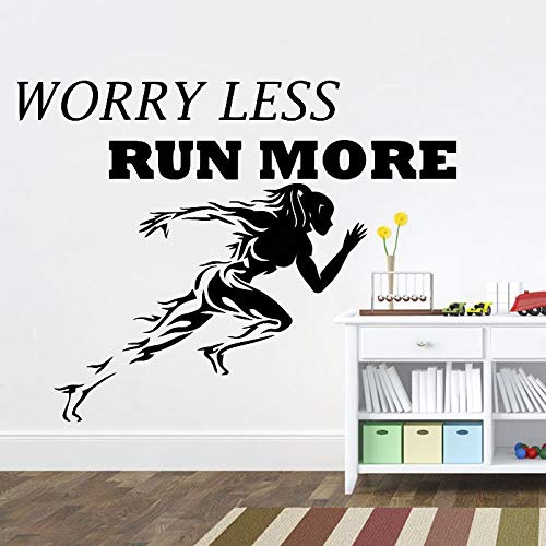 mlpnko Eslogan Motivacional Pegatinas de Pared Calcomanías de Vinilo para Pared Pegatina Quadro Parede Decor Mural Gym Sticker, 55x68cm
