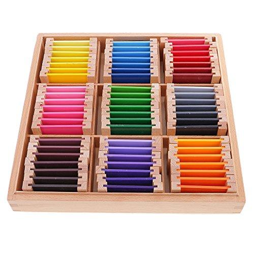 KESOTO Matériel éducatif Montessori Learning Color Box Kids Educational Toy - Bois, Gros