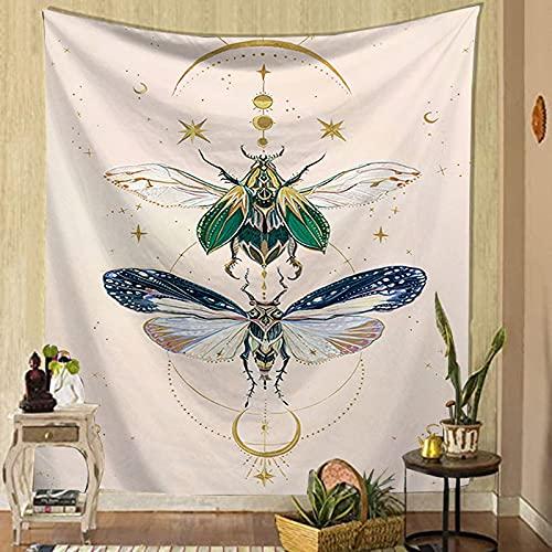 Flor de mariposa tapiz colgante de pared hogar planta de insectos impresión sofá fondo decoración de tela pintura de cabecera manta A1 150X200CM