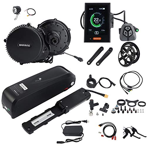 BAFANG BBS02B 48V 750W Mid Drive Conversion Kit Electric Bike with LCD Display 8fun Mid Motor Ebike Conversion Kit with Battery(Optional)