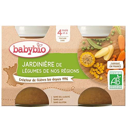 Babybio Jardinière de légumes, dès 4 mois, bio - Les 2 pots de 130g