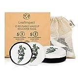 10 Discos Desmaquillantes Reutilizables | Almohadillas Ecológicas No Desechables | Almohadillas De...