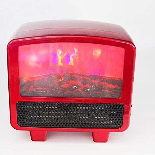 BDwantan Calefactor de chimenea de escritorio de llama, pequeño calentador de interior