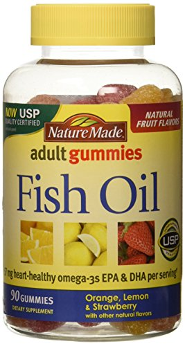 Nature Made Fish Oil Adult Gummies - Orange Lemon & Strawberry Banana 90 Ct, Pack of 2