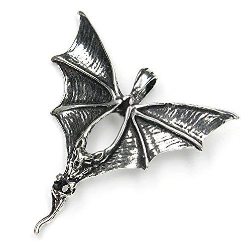 Fledermaus Schmuck Anhänger 925 Silber Gothic ausgefallener Silberschmuck Damen Kettenanhänger