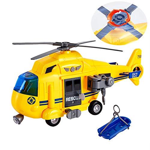 HERSITY Helicóptero de Rescate Modelos de Aviones de Juguete con Luz y Sonidos Aeroplanos para Niños