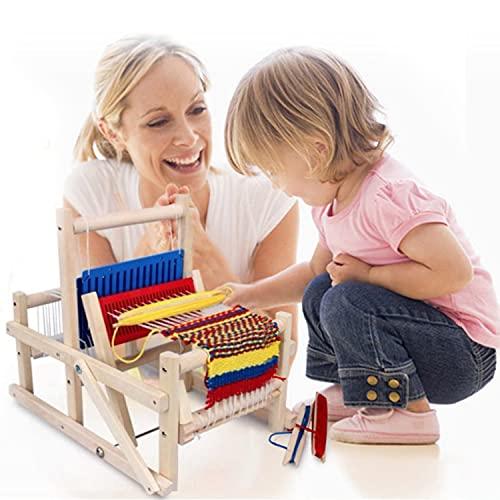 木製 織り機 卓上 手織り機 DIY 編み機 初心者向け 卓上手織り機 扱いやすい 簡単 子供用知的おもちゃ