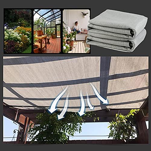 YUDEYU De múltiples Fines Aislamiento Red de Sombra (Dibujar Cuerda 5 m) Cochera balcón Patio Tela de protección Solar Los Rayos UV Protege (Color : Gray, Size : 2x2m)