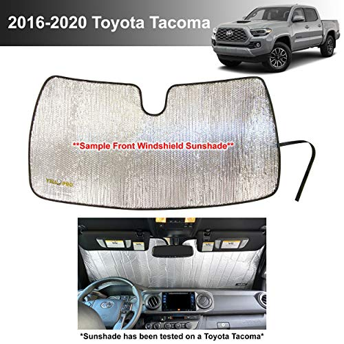 YelloPro Custom Fit Automotive Reflective Windshield Sunshade Accessories UV Reflector for 2016 2017 2018 2019 2020 Toyota Tacoma TRD Off-Road, SR, SR5, TRD Sport, TRD Pro, Limited 2 Dr 4 Door Pickup
