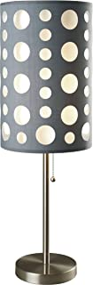 SH Lighting Retro Dual Shade Table Lamp - Features Grey Outer Shade & White Inner Shade - 30