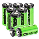 RCR123A Rechargeable Batteries KinGuard 8 batteries  3.7V 750mAh CR123A Li-ion Battery for Arlo Camera VMC3030 VMK3200 VMS3330 3430 3530 Security System Flashlight