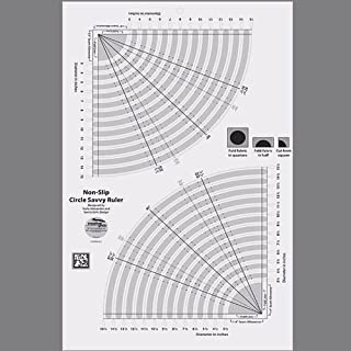 Creative Grids Circle Savvy Quilt Ruler (CGRSAV1) by Creative Grids