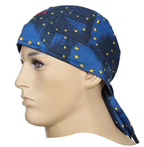 WELDAS Cotton Bandana, Doo-Rag, hoofdbescherming, kies stijl Europese vlag (23-3609) One size fits all