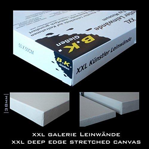 BK BILDERRAHMEN KOLMER 4 B.K. DEEP Edge LEINWÄNDE AUF KEILRAHMEN 90x90 cm | Extra tief, malfertig Grund, 100% Baumwolle