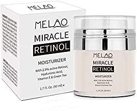 Retinol Moisturizer Cream for Face and Eye Area - With Retinol, Jojoba Oil, Vitamin E. Fights the Appearance of Wrinkles, Fine Lines. Best Day and Night Cream 1.7 Fl. Oz