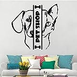 Tienda de mascotas Grooming Logo Sign Cat Dog Head Mascota Animal Vinilo Etiqueta de la pared Art Decal Sala de estar Oficina Studio Club Decoración para...
