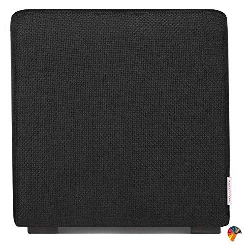 Arketicom Pouf Cube Noir en Polyurethane Haute Densite` Dimensions 45 x 45 x 45h cm (puf Puff pouff pouffe)