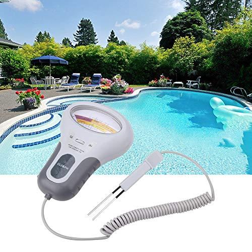 PH Analysemessgerät PH Tester, Chlor und PH Tester, Pool Spa Wasserqualitätsanalysator mit Sonde, CL2 2 in 1 Wasserqualitäts Tester, Füllstandsmesser für Pool, Spa Wasser