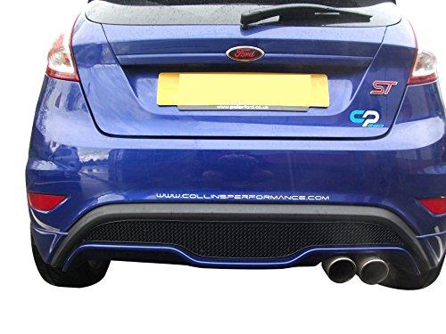 Zunsport Compatible con Ford Fiesta ST MK 7.5 - Parrilla Trasera - Acabado Negro (De 2013...
