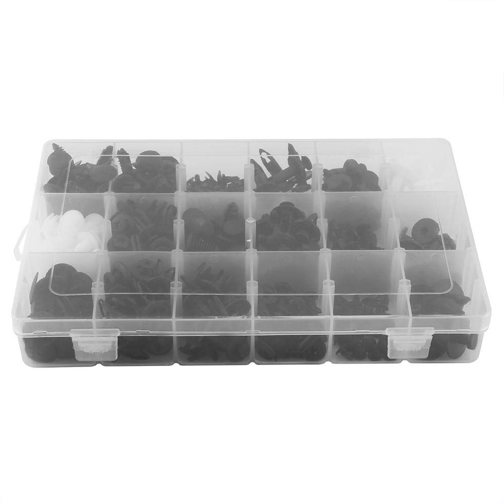 Fastener Clips,415 Pcs 18 Sizes Plastic Car SUV Trim Clips Retainer Panel Bumper Fastener With Contain Box