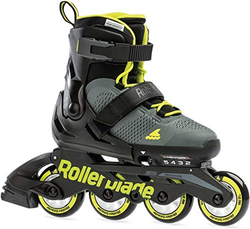 Rollerblade MAXX Inline Skate 2021 Anthracite/Lime, 33-36.5