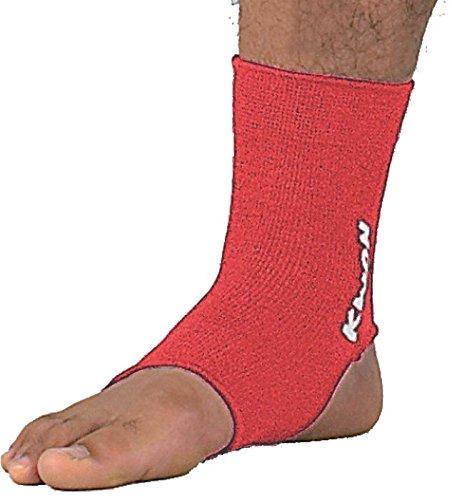Kwon elastische Fußbandage für Thai / Kickboxen, Größe:M;Farbe:Rot
