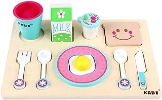 Play Food, Wooden Kids Play Food, Milk Food Cooking Food Pretend Play Food for Pretend Role Playing Christmas Gifts play P...