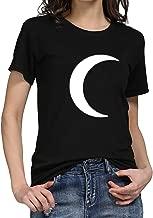 TWGONE Moon Shirt Women Plus Size Summer Casual Crewneck Top T-Shirt
