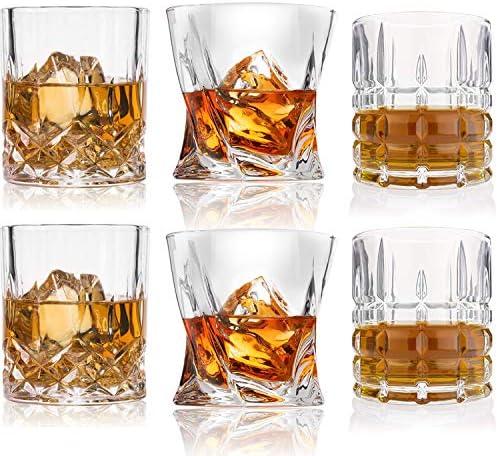 Whiskey Glasses Premium 10 11 OZ Scotch Glasses Set of 6 Old Fashioned Whiskey Glasses Style product image