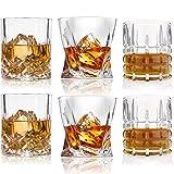 Whiskey Glasses-Premium 10, 11 OZ Scotch Glasses Set of 6 /Old Fashioned Whiskey Glasses/Style Glassware for Bourbon/Rum glasses/Bar Tumbler Whiskey Glasses(Mixed)