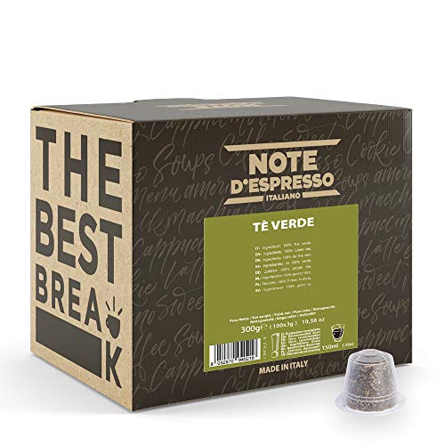 Note d'Espresso - Té Verde - Cápsulas - Compatibles con Cafeteras de Cápsulas Nespresso*